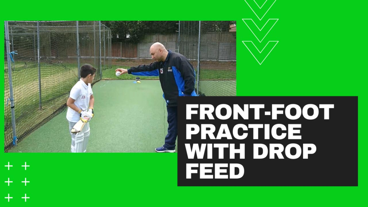 Cricket Batting Drills for Beginners-Front-Foot Drill